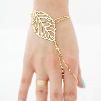Damen Ketten- & Glieder-Armbänder Ring-Armbänder - Blattform Armbänder Für Weihnachts Geschenke Party Alltag
