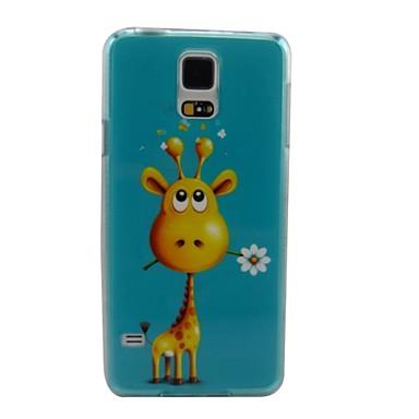 Para Samsung Galaxy Capinhas Case Tampa Estampada Capa Traseira Capinha Animal PC para Samsung S5