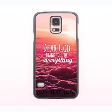 caso de telefone personalizado - Querido Deus caixa de metal design para samsung galaxy s5 mini-