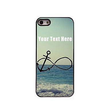 gepersonaliseerde telefoon case - anker en strand ontwerp metalen behuizing voor de iPhone 5 / 5s