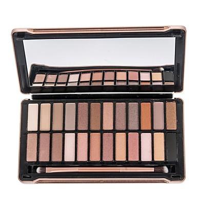 24 Paleta de Sombras Secos Mate Paleta da sombra Pó Maquiagem para o Dia A Dia Maquiagem para Dias das Bruxas