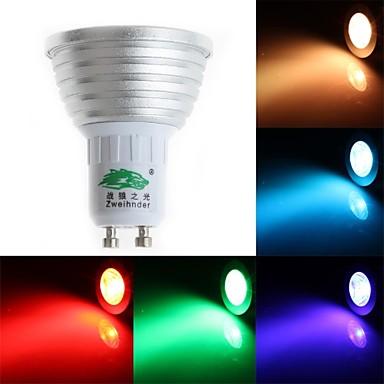 200-250 lm GU10 LED Σποτάκια MR16 1 leds Dip LED Με ροοστάτη Διακοσμητικό Τηλεχειριζόμενο RGB AC 85-265V