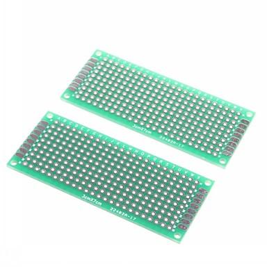 3 x 7 cm çift taraflı cam elyaf prototip pcb evrensel breadboard (2 adet)