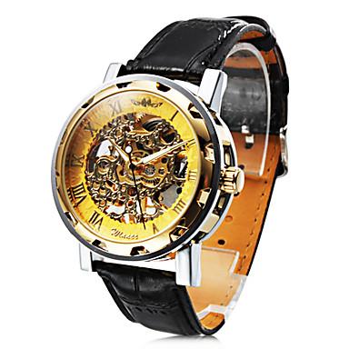 relógio gravura oco mecânica dos homens elegantes personalizados