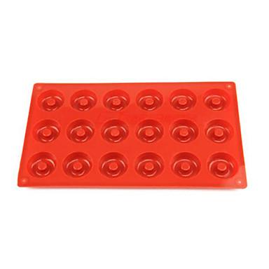 18 delikli çörek kalıp, kek, çikolata, kek kek kalıbı, silikon 29 × 17 × 1 cm (11.4 × 6.7 × 0.4 inç)