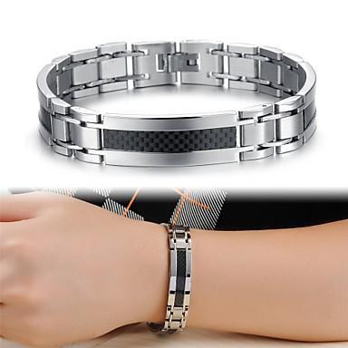Heren Tennis Armbanden Uniek ontwerp Modieus Kostuum juwelen Titanium Staal Sieraden Sieraden Voor Bruiloft Feest Dagelijks Causaal