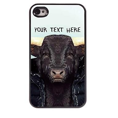 gepersonaliseerde telefoon case - koe ontwerp metalen behuizing voor de iPhone 4 / 4s