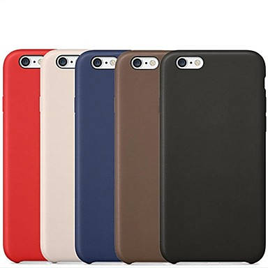 hoesje Voor Apple iPhone 6 iPhone 6 Plus Other Achterkant Effen Kleur Hard PU-nahka voor iPhone 6s Plus iPhone 6s iPhone 6 Plus iPhone 6