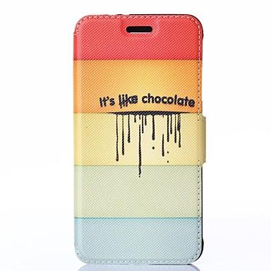 Για Samsung Galaxy Θήκη με βάση στήριξης / Ανοιγόμενη / Με σχέδια tok Πλήρης κάλυψη tok Γραμμές / Κύματα Συνθετικό δέρμα Samsung Alpha