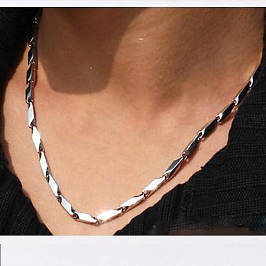Ketten - Edelstahl, Titanstahl Einzigartiges Design, Modisch Silber Modische Halsketten Schmuck 1pc Für Weihnachts Geschenke, Hochzeit, Party