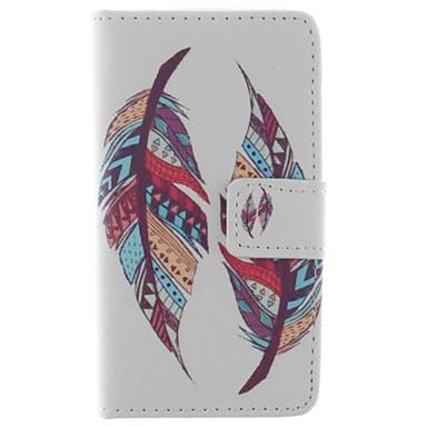 Maska Pentru iPhone 5 Apple Carcasă iPhone 5 Titluar Card Portofel Cu Stand Întoarce Model Carcasă Telefon Pene Greu PU piele pentru