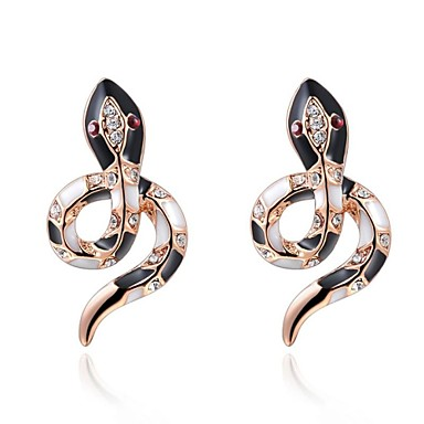 Oorknopjes Kristal Kubieke Zirkonia Verguld Sieraden Zilver Gouden Bruiloft Feest Dagelijks Causaal Kostuum juwelen
