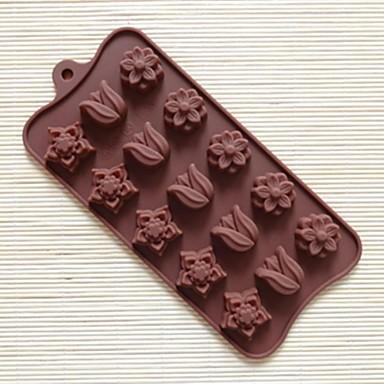 15 gat tulp vorm cakevorm ijs jelly chocolade schimmel cakevorm, bakken tool