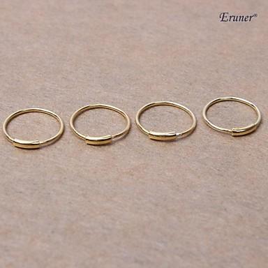 body piercing sieraden eruner® neus piercing kleine sterling zilveren hoepel neus ringen (4 stuks)