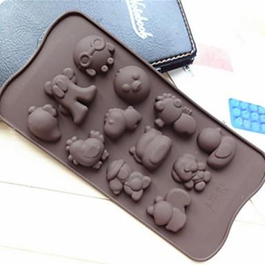 hai bao vorm cakevorm ijs gelei chocoladevorm, siliconen 21,2 × 10,5 × 1,5 cm (8,3 × 4,1 × 0,7 inch)