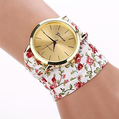 Pentru femei Ceas La Modă Quartz Material Bandă Flori Alb Pink