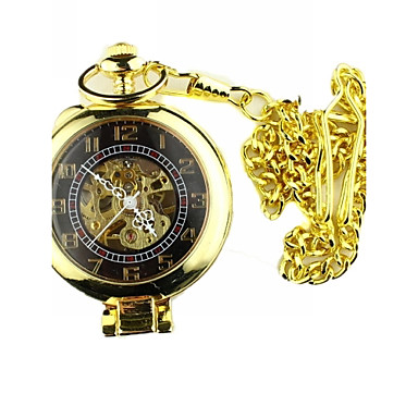 Heren mechanische horloges / Zakhorloge Japans Hol Gegraveerd Legering Band Luxe / Vintage Goud