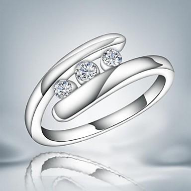 Kadın's Bildiri Yüzüğü - alaşım Moda 7 / 8 Uyumluluk Düğün Parti Günlük / Zirkon