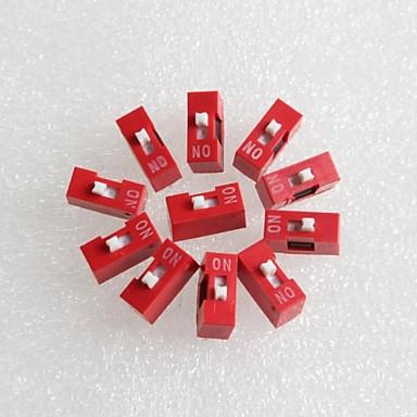 1p dip switch interruptor de codificação 2,54 milímetros pitch (10pcs)