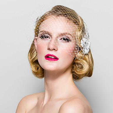 Kristal Stof tiaras Birdcage Veils 1 Bruiloft Speciale gelegenheden  Feest / Uitgaan Helm