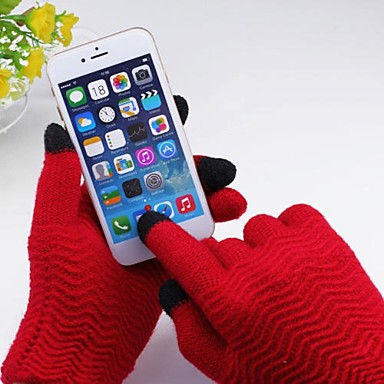 Universal Pure Wave Plaid Touch Gloves for iPhone and Others