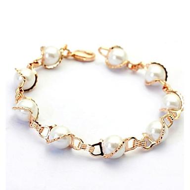 Damen Perle Strang-Armbänder - Perle, Krystall, Künstliche Perle Simple Style Armbänder Silber / Golden Für Hochzeit Party Alltag / vergoldet