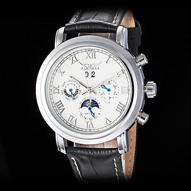 Bărbați ceas mecanic Ceas de Mână Mecanism automat Calendar Piele Bandă Luxos Negru