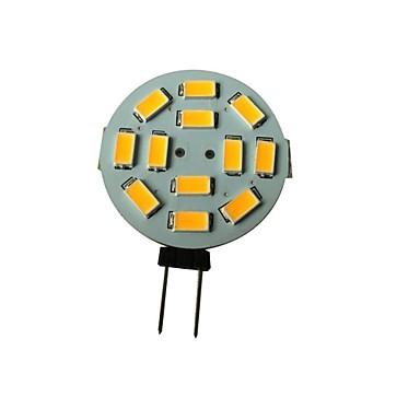 1.5 W 3000-3200 lm G4 LED Σποτάκια 12 LED χάντρες SMD 5630 Θερμό Λευκό 12 V