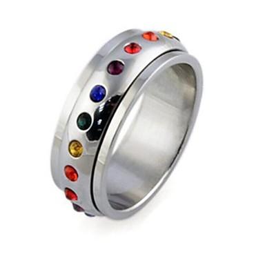 Anéis Casamento / Pesta / Diário / Casual / Esportes Jóias Aço Titânio Feminino Anéis Statement5 / 6 / 7 / 8 / 9 / 10 / 11 / 12