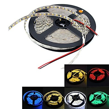 1pc 5m flexibile led strip benzi ip20 non-wanterproof 300 leds 3528 smd cald alb / alb / roșu dc 12v