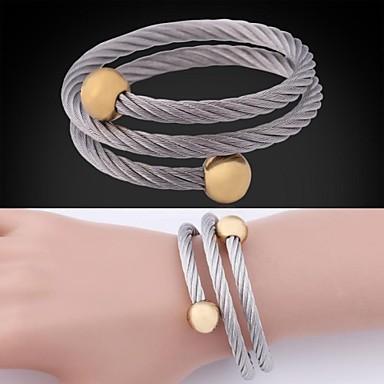 u7® roestvrij staal 18k echt goud verguld 2 kleuren vergulde manchet armband