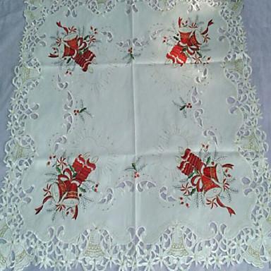 belos bordados toalha de mesa de Natal