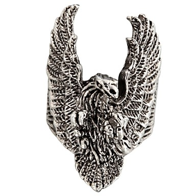 Kadın's Bildiri Yüzüğü - Moda 8 Gümüş Uyumluluk Günlük