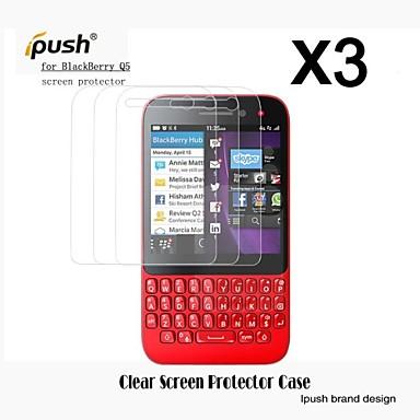 protetor de tela LCD HD de alta transparência para q5 blackberry (3 peças)