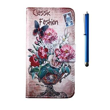 Pentru Carcasă Nokia Portofel / Titluar Card / Cu Stand Maska Corp Plin Maska Floare Greu PU piele Nokia Nokia Lumia 630