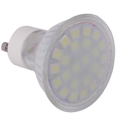 GU10 LED-spotlampen MR16 24 leds SMD 5050 Koel wit 360lm 6000-6500K AC 220-240V