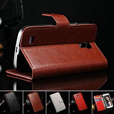 cavalo de couro pu caso de corpo inteiro retro louco com suporte e slot para cartão de mini-i9190 Samsung Galaxy S4