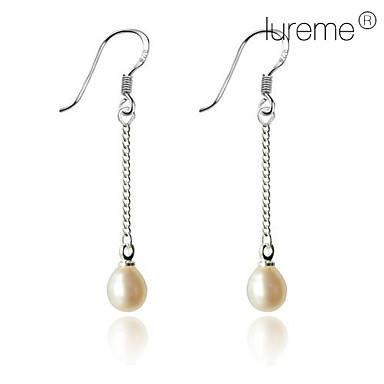 Lureme®Single Chain Pearl Earring