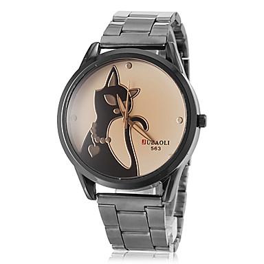 Kadın's Quartz Bilek Saati Elbise Saat / Gündelik Saatler PU Bant Kedi Kahverengi