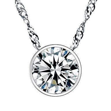 ieftine Colier la Modă-Pentru femei Diamant Zirconiu Cubic Coliere cu Pandativ Plastic Zirconiu Cubic Diamante Artificiale Modă Argintiu Coliere Bijuterii Pentru Nuntă Petrecere Zilnic Casual