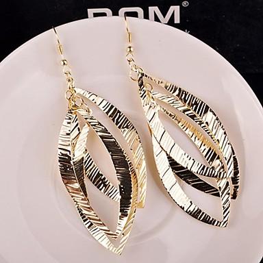Damen Tropfen-Ohrringe - Personalisiert, Europäisch, Erklärung Gold / Silber Für