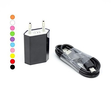 Ladegeräte für Zuhause / Tragbares Ladegerät USB-Ladegerät EU Stecker Lade-Kit 1 USB Anschluss