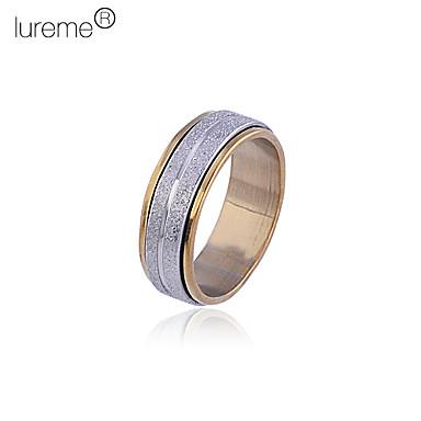 lureme®unisex anillo de acero de titanio pulido embotado
