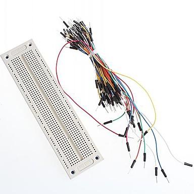SyB-120 breadboard și cabluri de legătură breadboard fire 65pcs