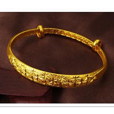 mode prachtige gift ms patroon plating 24 k gouden malen kruimelig vervorming armband