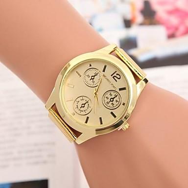 Heren Dress horloge Kwarts Roestvrij staal Band Goud Gouden