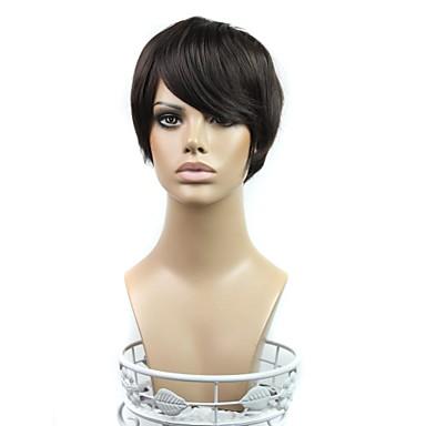 Perucas sintéticas Densidade Mulheres Preta preto peruca Cabelo Sintético