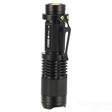 LS007 Lanternas LED LED 1000lm 5 Modo Iluminação Zoomable / Foco Ajustável / Resistente ao Impacto Campismo / Escursão / Espeleologismo /