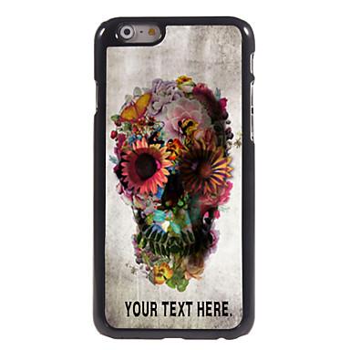 gepersonaliseerd geval schedel en bloem ontwerp metalen behuizing voor de iPhone 6 (4.7