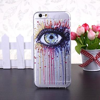 abstracte kleurrijke oog patroon transparante TPU zachte hoes voor de iPhone 6 / 6s